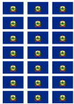 Vermont Flag Stickers - 21 per sheet
